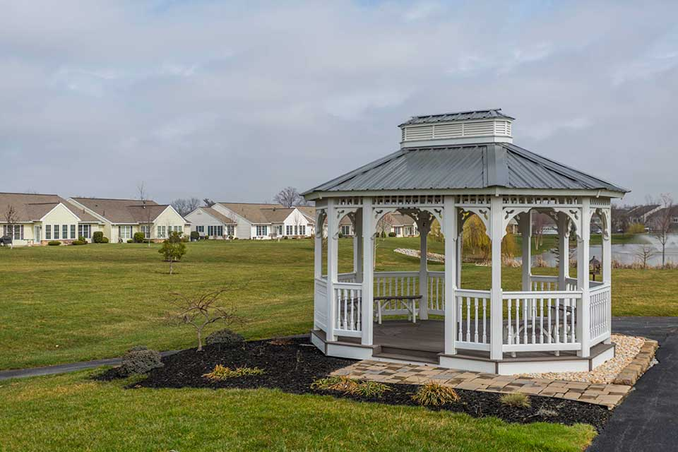 Gazebo in residential neighborhood in Hanover, MD