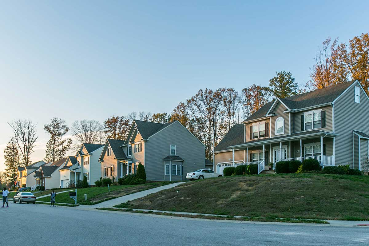 Residential neighborhood in Hopewell, VA