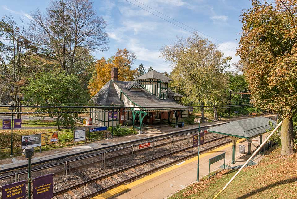 Train station in Mt. Airy, Philadelphia, PA