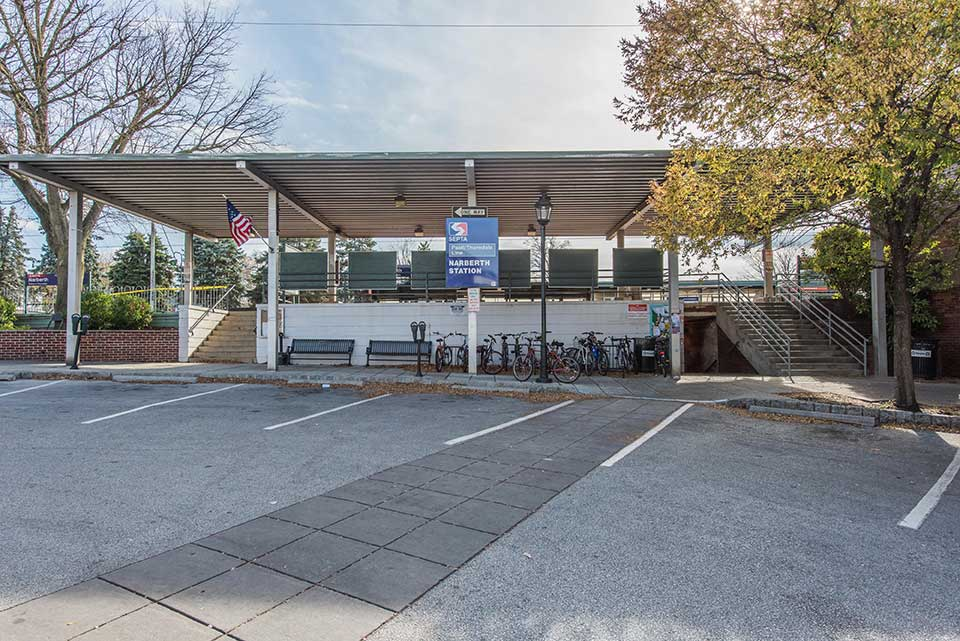 SEPTA station in Narberth, Philadelphia, PA