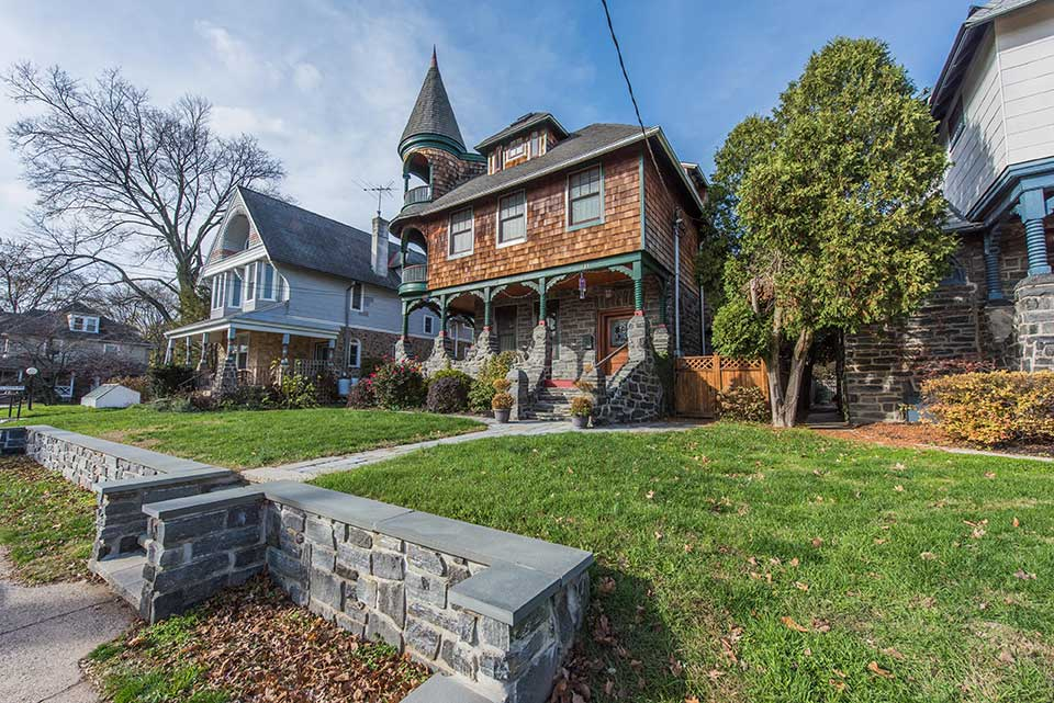 Historic homes in Narberth, Philadelphia, PA