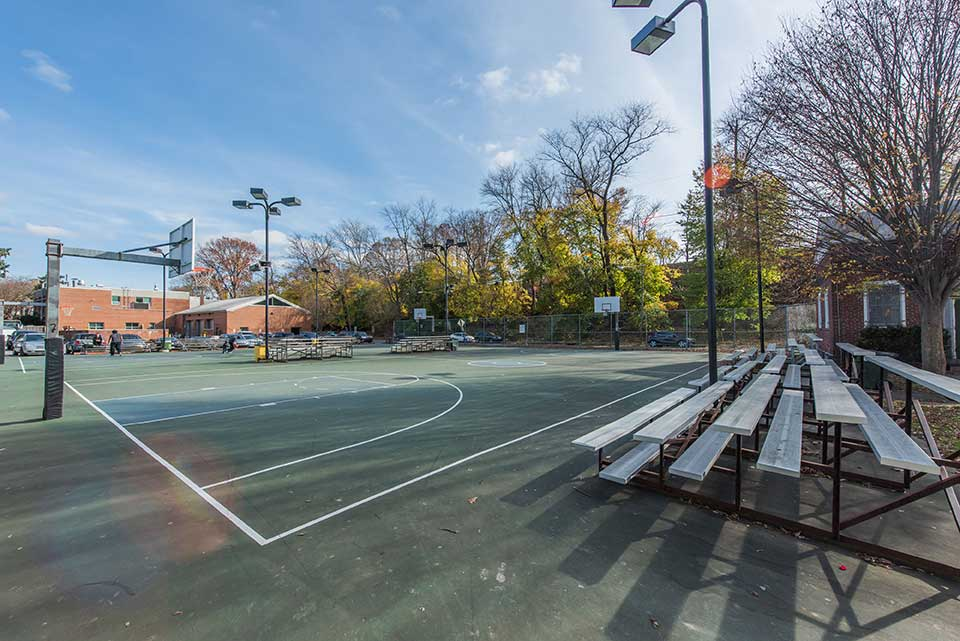 Basketball court in Narberth, Philadelphia, PA