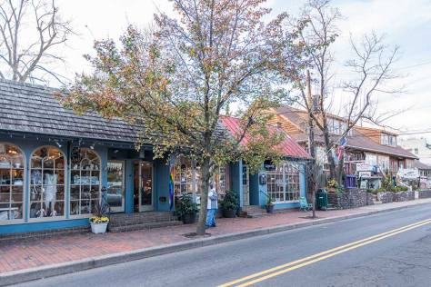 Downtown retail in New Hope, PA