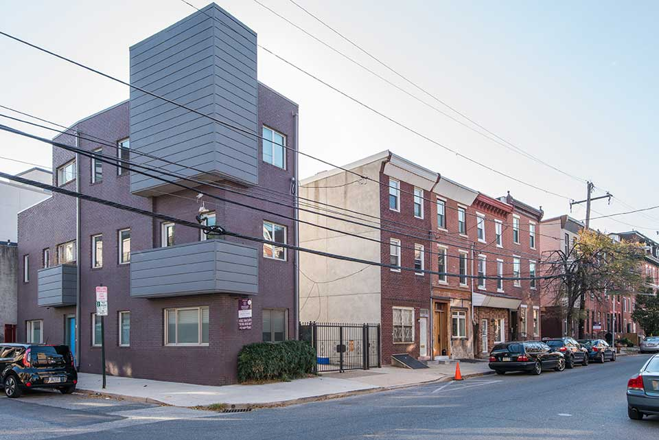 Condos and row houses in Northern Liberties, Philadelphia, PA