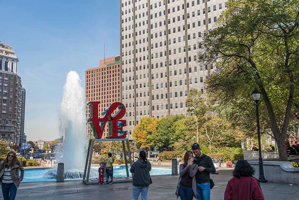 LOVE sign in Philadelphia, PA