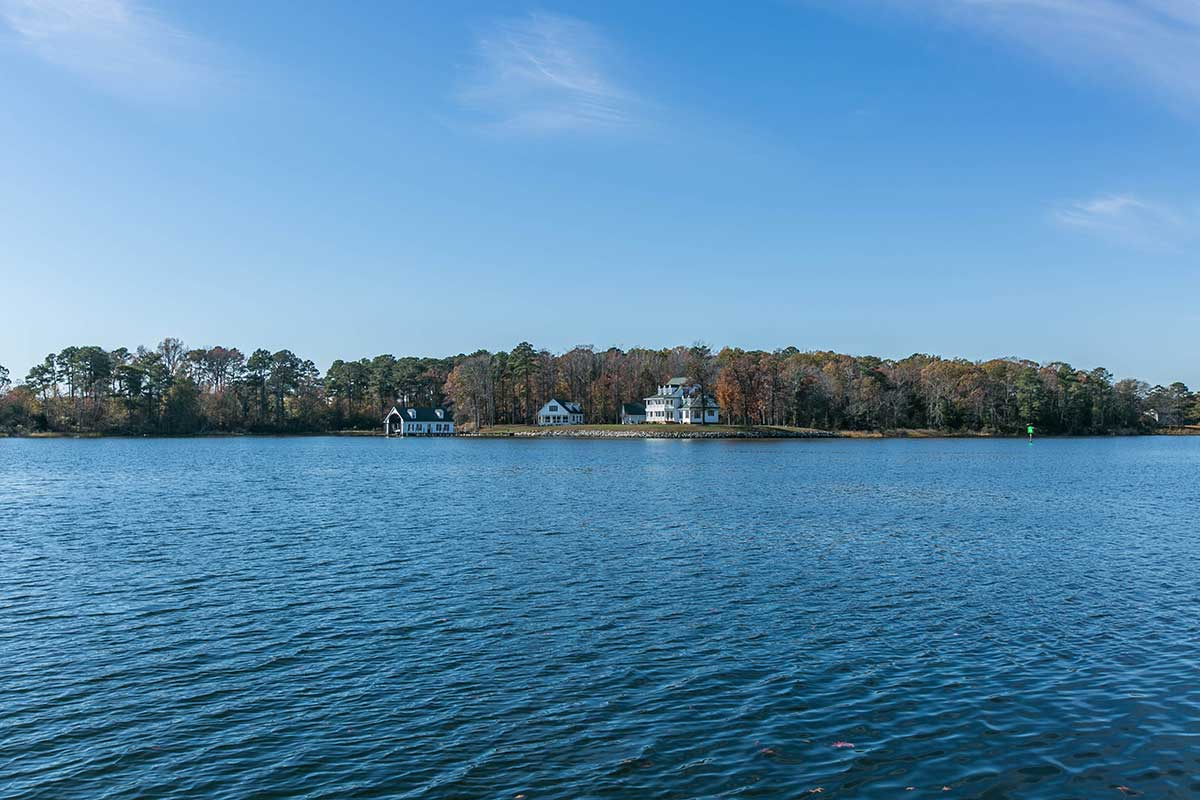 View of the water in Reedville, VA