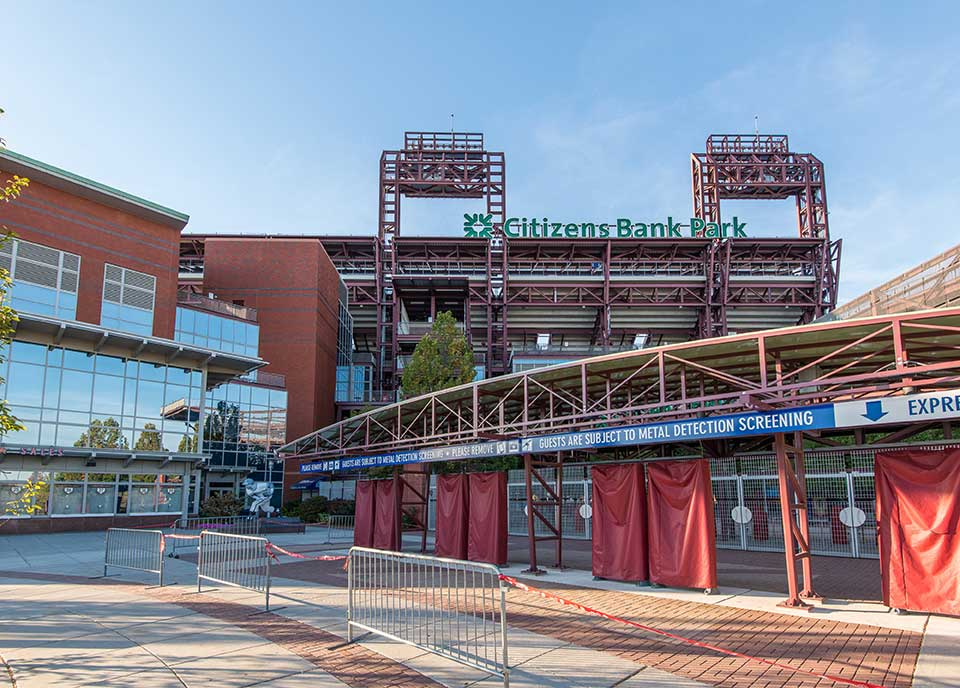 Citizens Bank Park grounds in South Philly, Philadelphia, PA