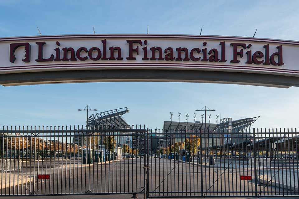 Lincoln Financial Field sign in South Philly, Philadelphia, PA