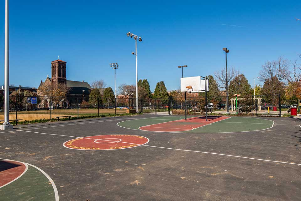 Basketball courts in Spring Garden, Philadelphia, PA
