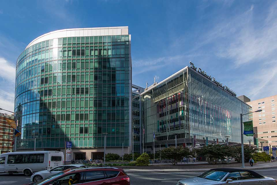 Children's hospital and other glass building in University City, Philadelphia, PA