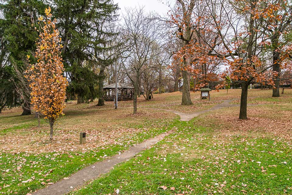 Park with gazebo in West Chester, PA
