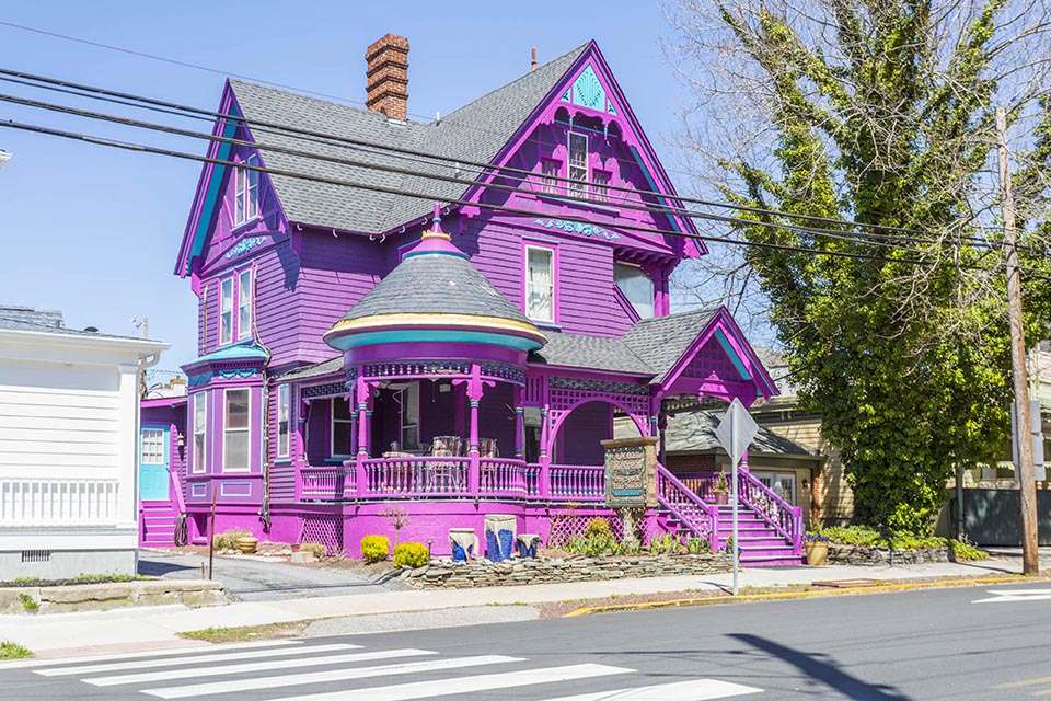 Purple house in Lewes, DE