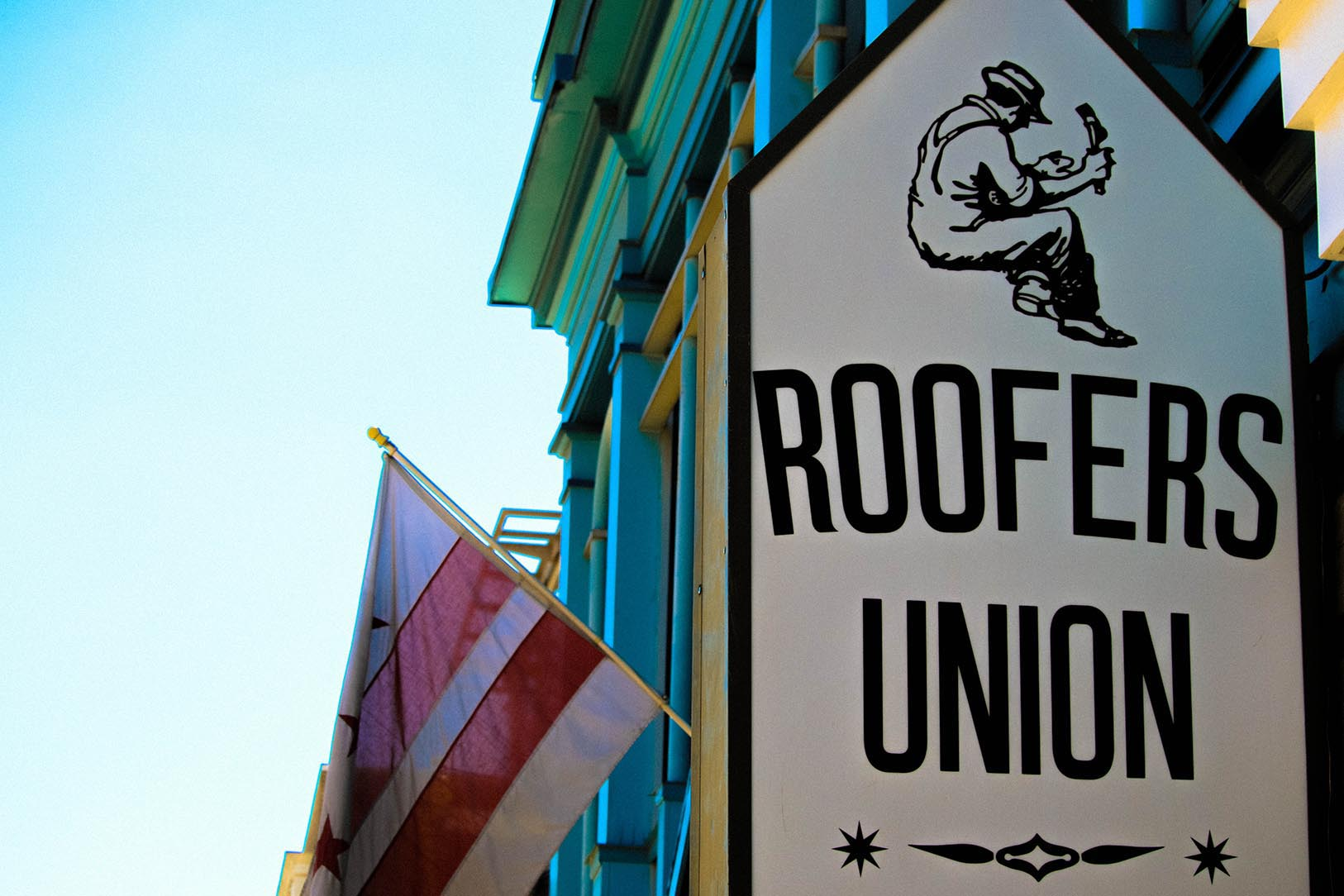 Roofers Union in Adams Morgan, Washington, DC