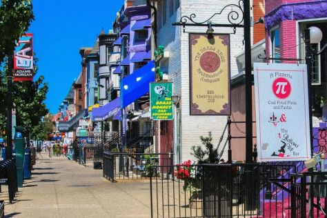 Restaurants and businesses in Adams Morgan, Washington, DC
