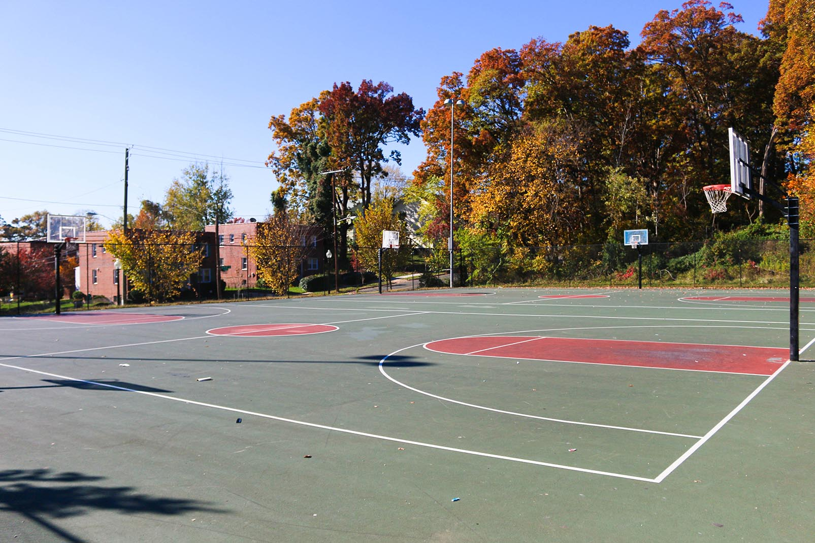 Basketball courts in Anacostia, Washington, DC