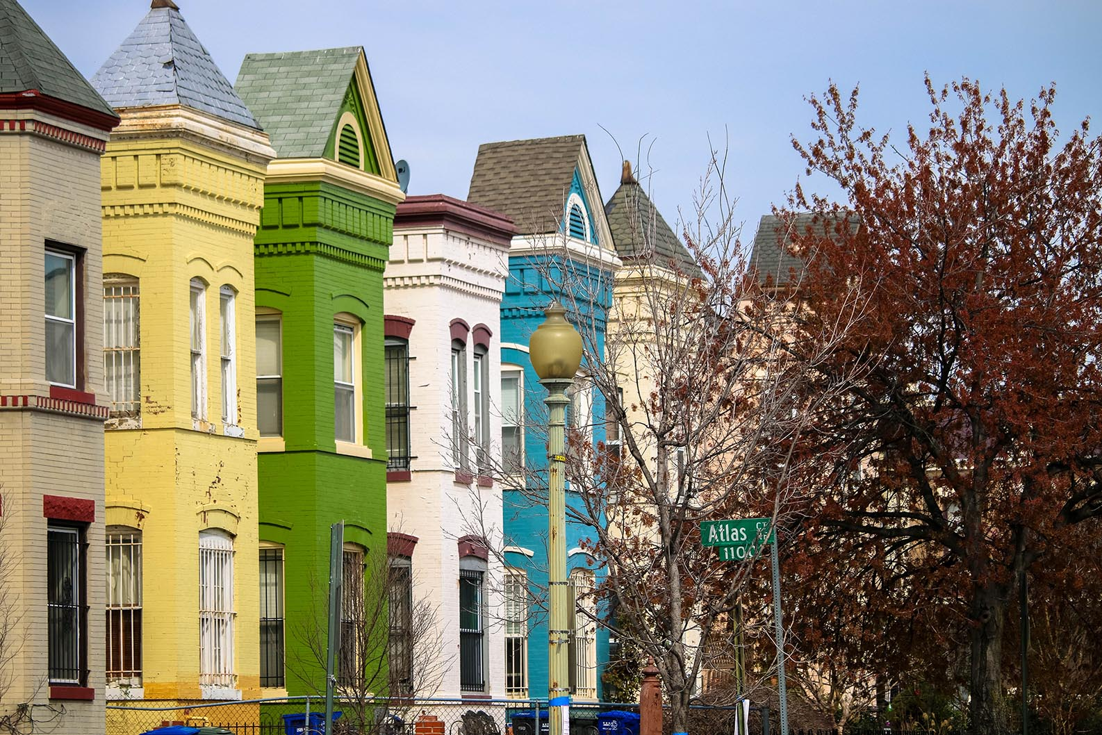 Colorful row houses in Atlas District, Washington, D.C.