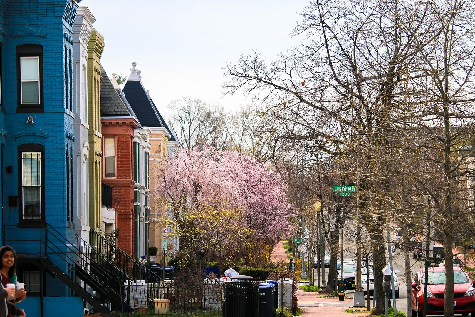Residential street in Atlas District, Washington, D.C.