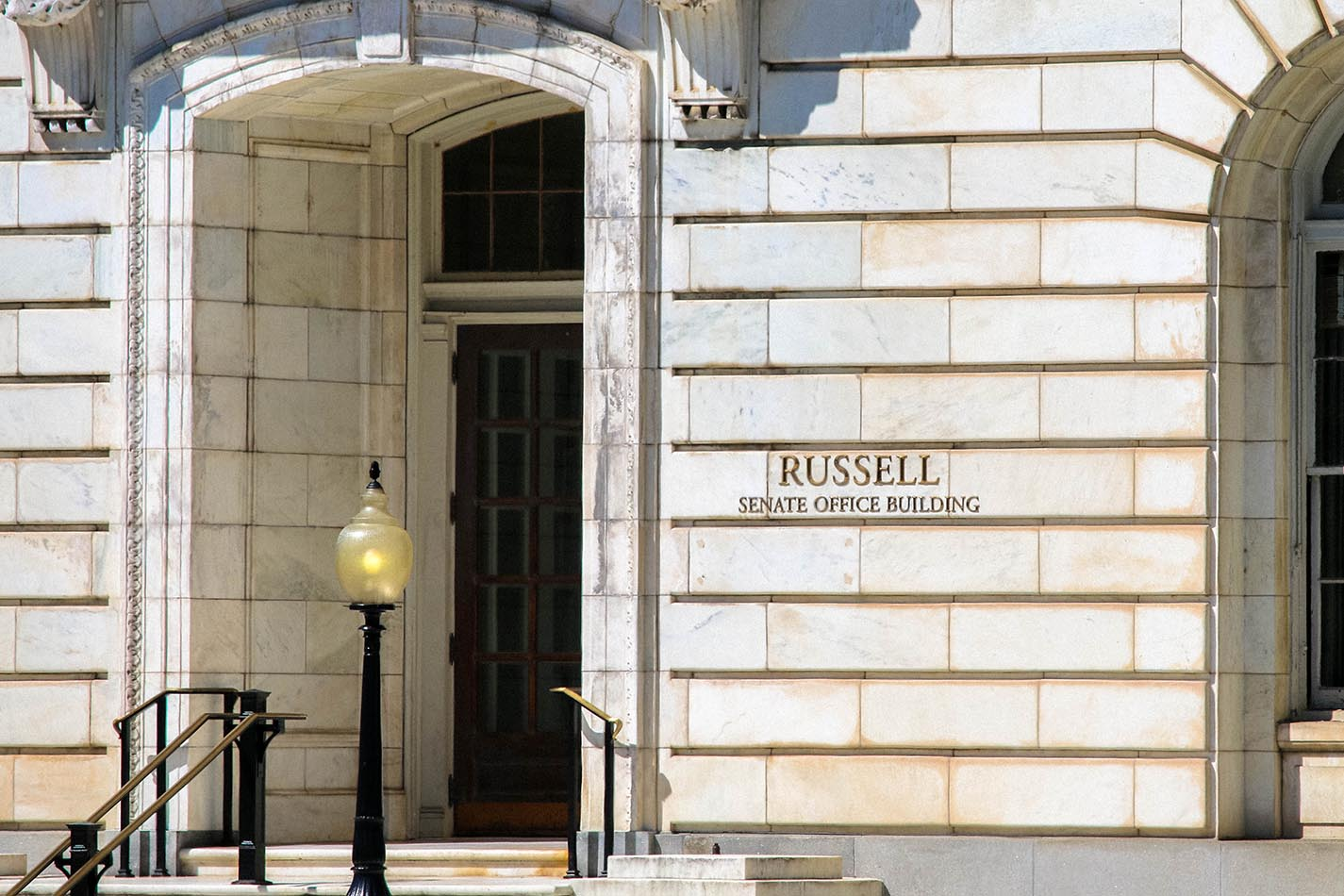 Russell Senate Office Building in Capitol Hill, Washington, DC