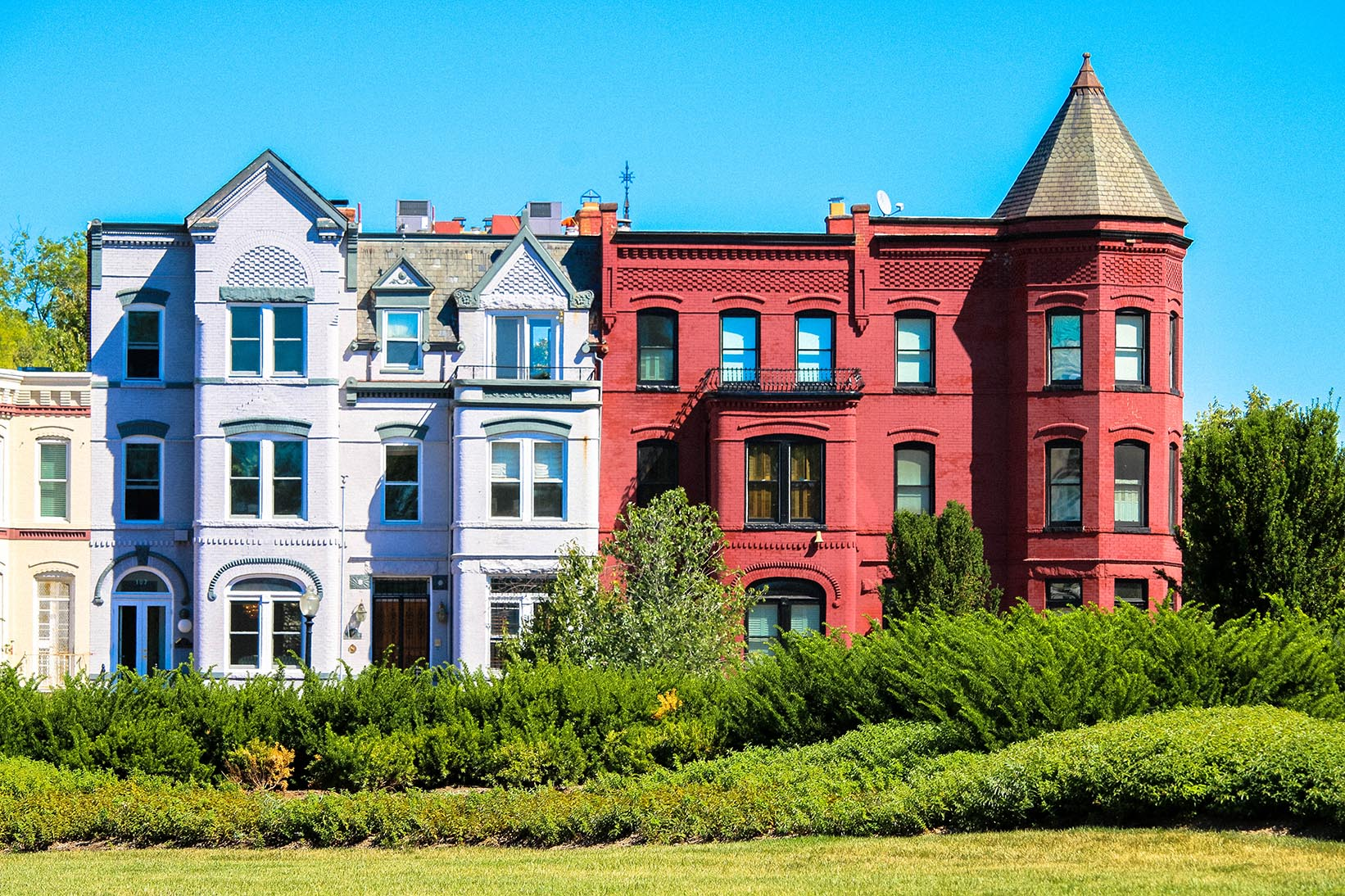 Rowhouses in Capitol Hill, Washington, DC