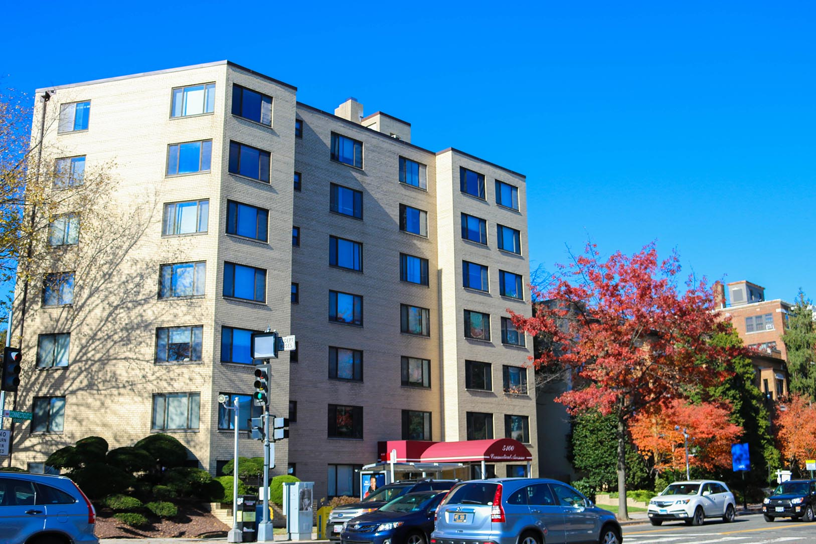 Apartment building in Chevy Chase, Washington, DC