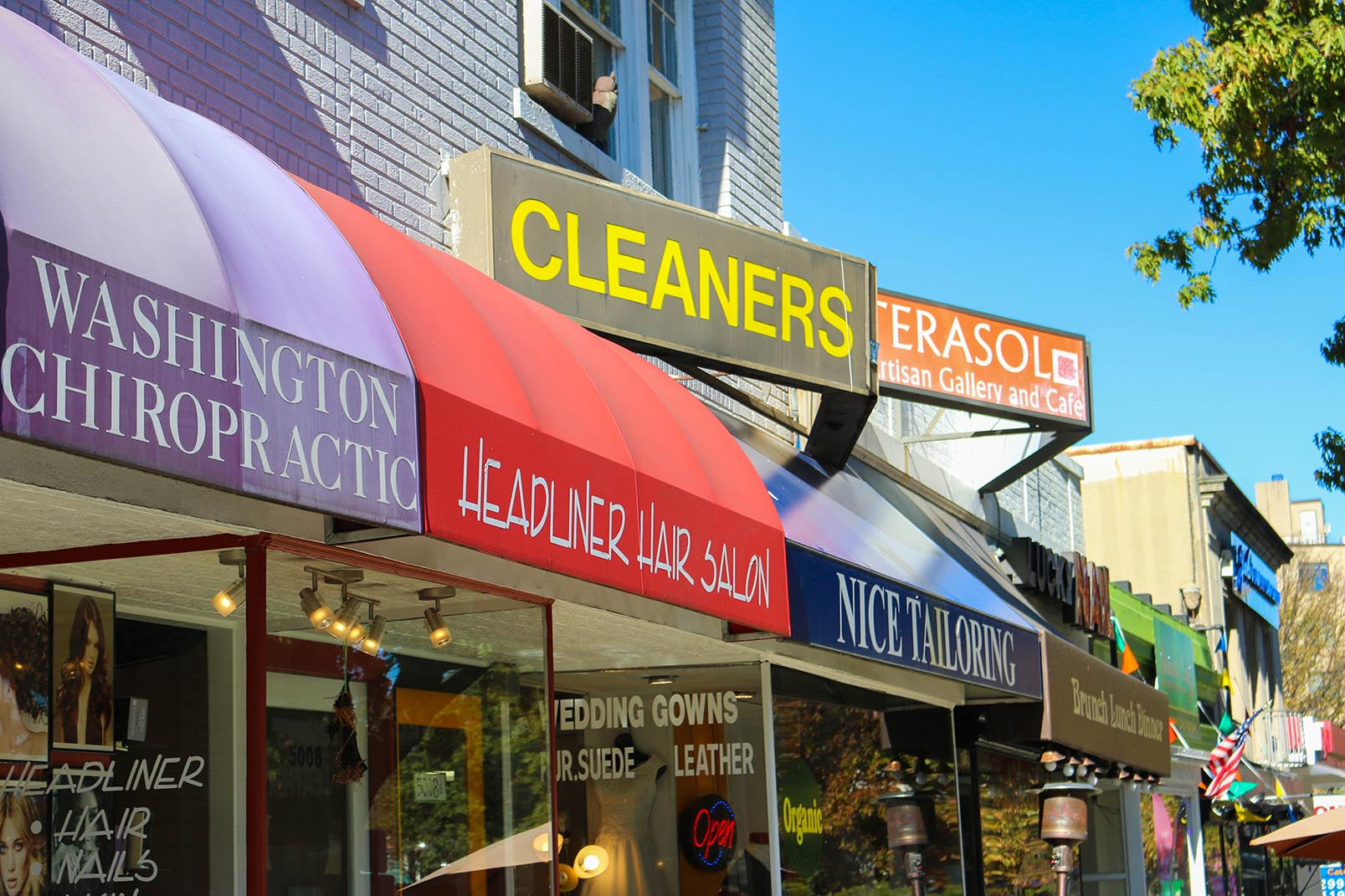 Cleaners and other businesses in Chevy Chase, Washington, DC