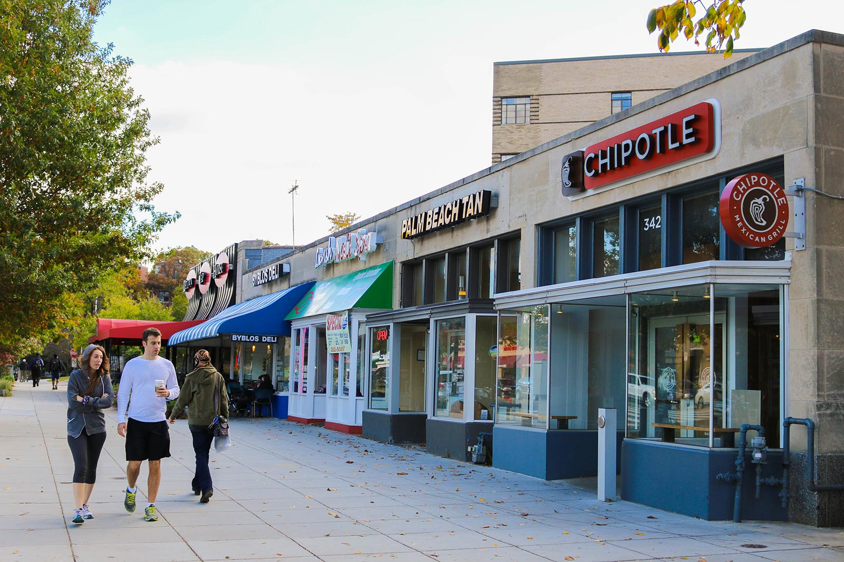 Chipotle and restaurants in Cleveland Park, Washington, DC