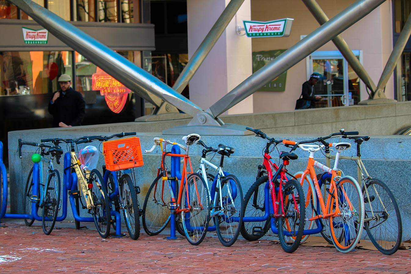 Bikes parked in Dupont Circle, Washington, D.C.