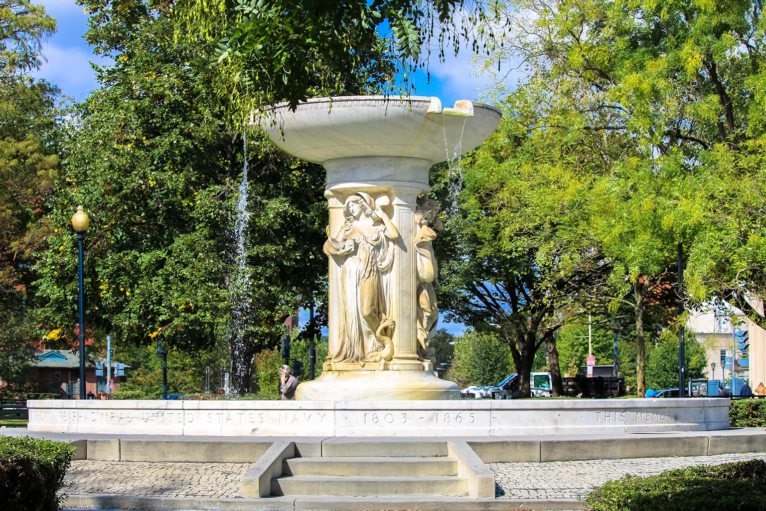 Fountain in Dupont Circle, Washington, D.C.