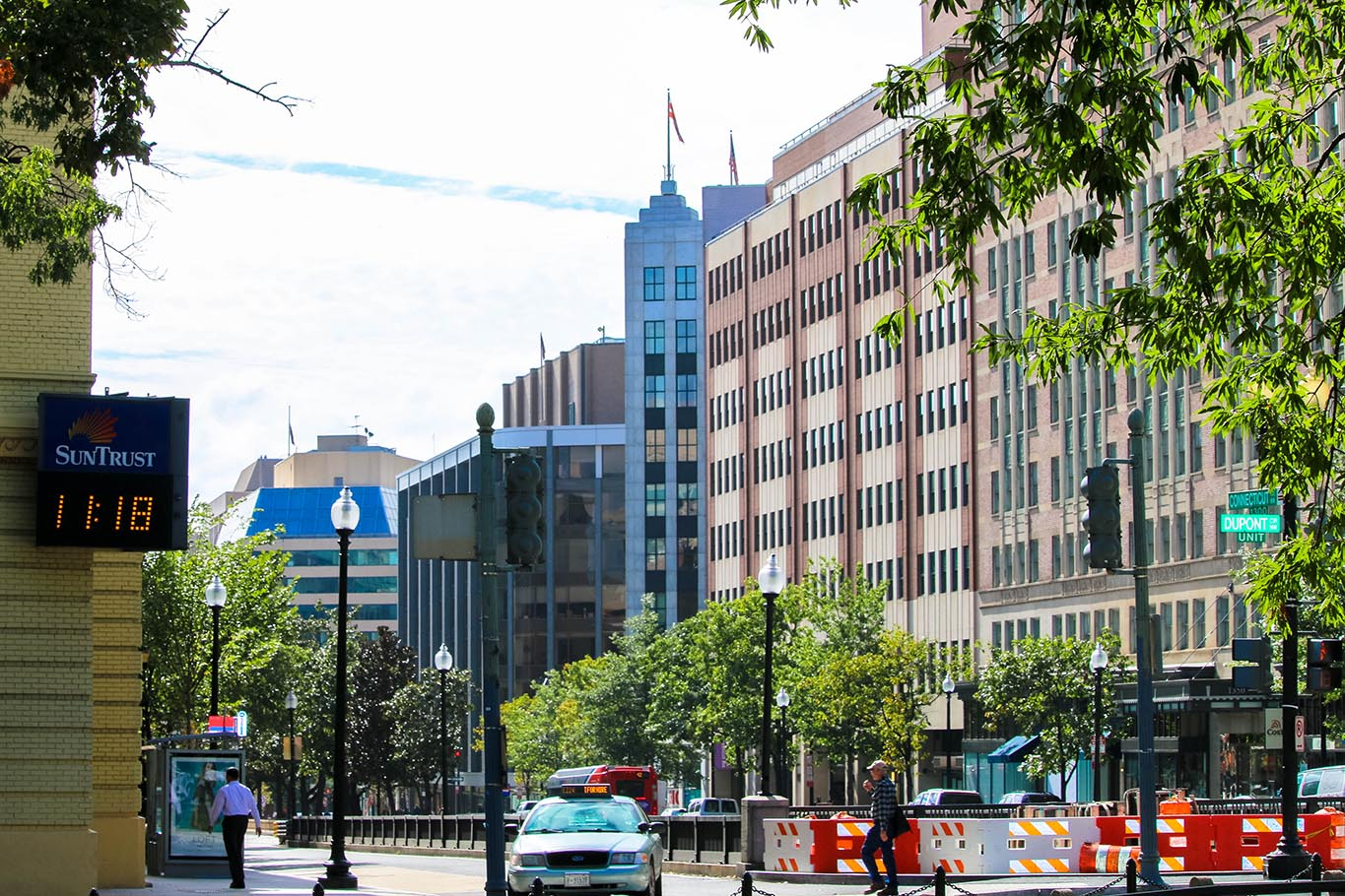 Connecticut avenue in Dupont Circle, Washington, D.C.